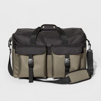 mens bag menu0027s two tone duffle bag ... mfubegc