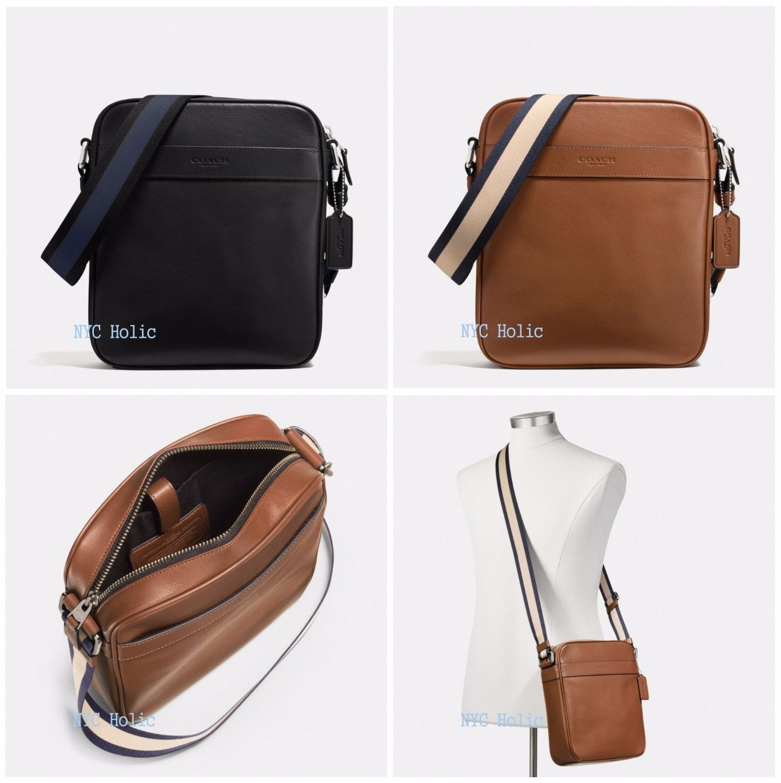 mens bag new coach f54782 f59913 mens charles flight bag in smooth leather uocotue