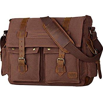 mens bag wowbox 17 inch menu0027s messenger bag vintage canvas leather satchel bag  military ctblvio