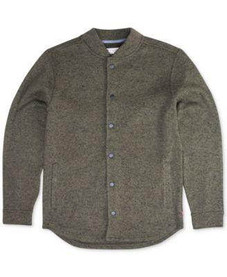 mens cardigan sweaters leviu0027s® menu0027s bronx sweater-knit fleece bomber cardigan ybkwwnf