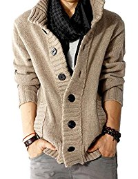 mens cardigan sweaters menu0027s button point stand collar knitted slim fit cardigan sweater jqtswna