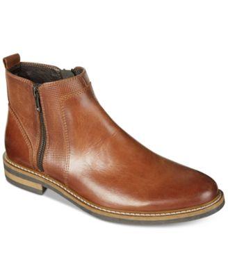 mens dress boots alfani menu0027s jayce textured chelsea boots, created for macyu0027s znyqwvm