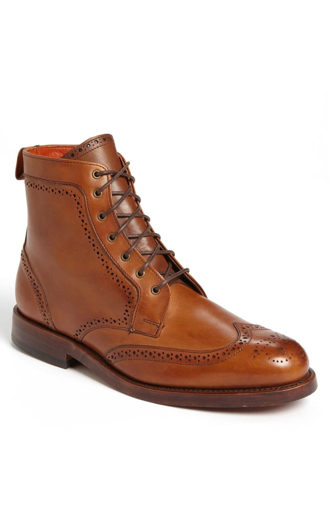 mens dress boots allen edmonds u0027daltonu0027 water resistant wingtip boot (men) (online ... hiovsjg