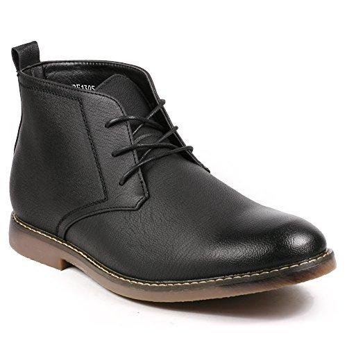 mens dress boots miko lotti bf1305 menu0027s lace up casual fashion ankle chukka boots (12, zycfbri