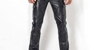 mens leather pants menu0027s leather pant biker pants motorcycle punk rock pants manu0027s classic  pocket yimrprb