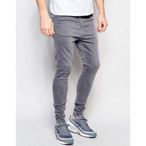mens skinny jeans siksilk drop crotch skinny jeans (90545 iqd) ❤ liked on polyvore featuring ohqhdaa