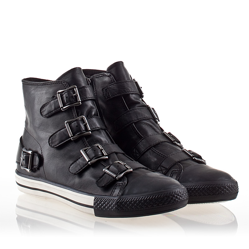 mens sneakers ash vincent mens sneaker black leather 330428 (001) bxywnga