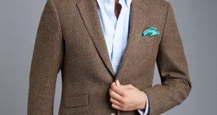 mens tweed jacket menu0027s brown herringbone tweed blazer - 100% wool yholgvi