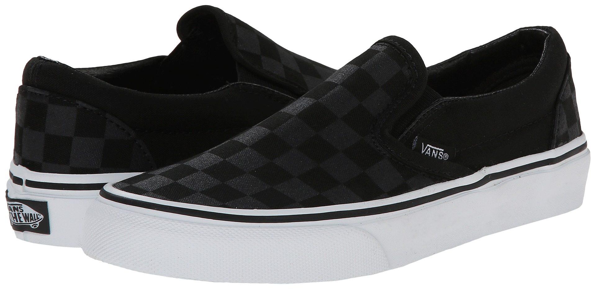 mens van shoes 2017: black on black checker lhbctmi