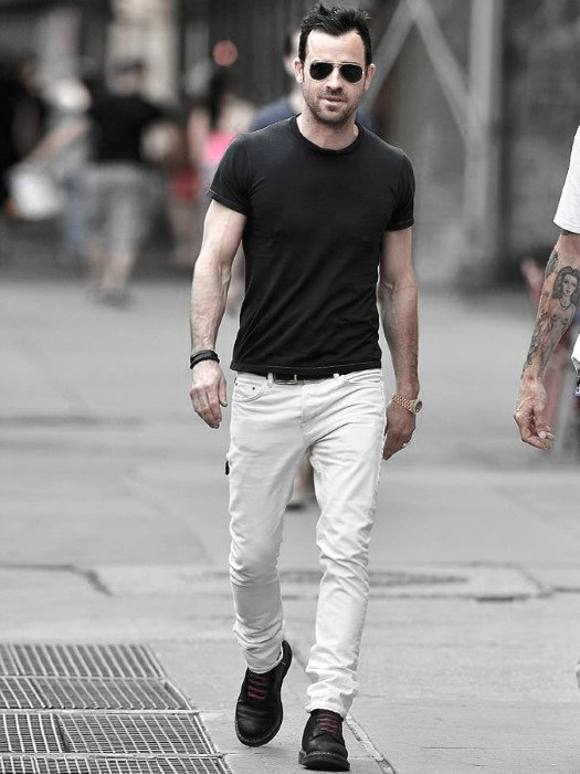 mens white jeans black t shirt what to wear with guys white jeans outfits style designs kacxkfq