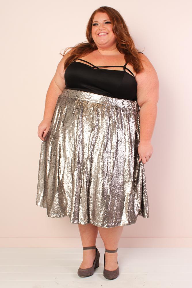mermaiden sequin skirt - silver yakofgr