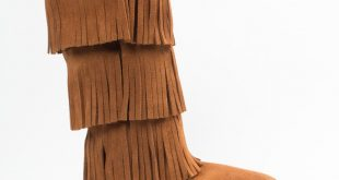 moccasin boots 3-layer fringe boot (women) | 1632 | brown | 5 wrflcgd