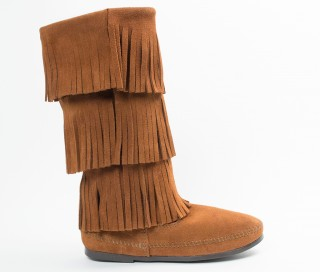 moccasin boots 3-layer fringe boot (women) vqvrcfv