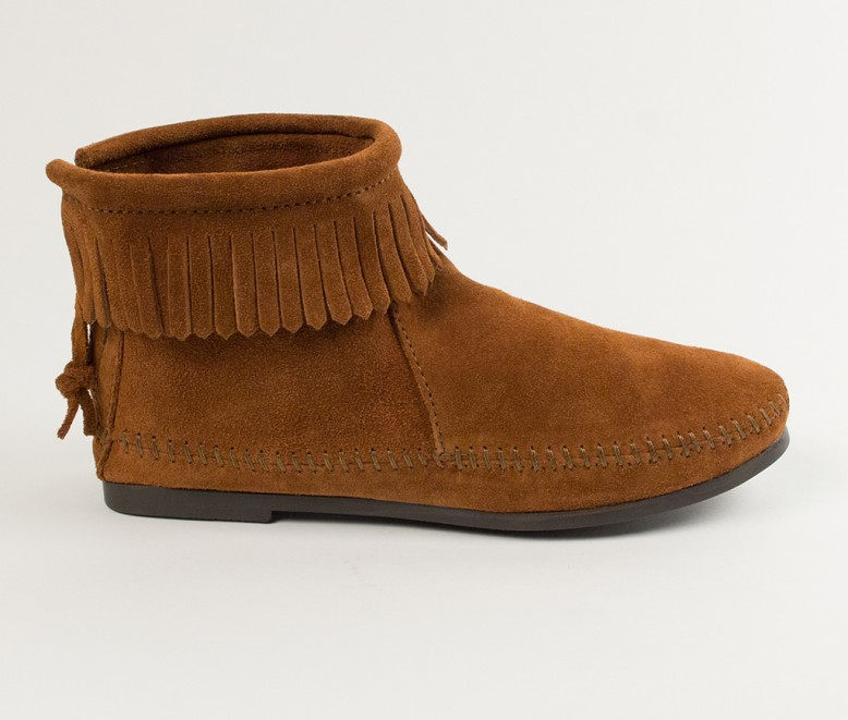 moccasin boots back zip hardsole boot (women) | 282 | brown | 4 swgbcdm
