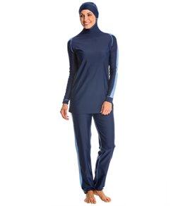 modest swimwear alsharifa sportiva navy modest swimsuit kxdkyvl
