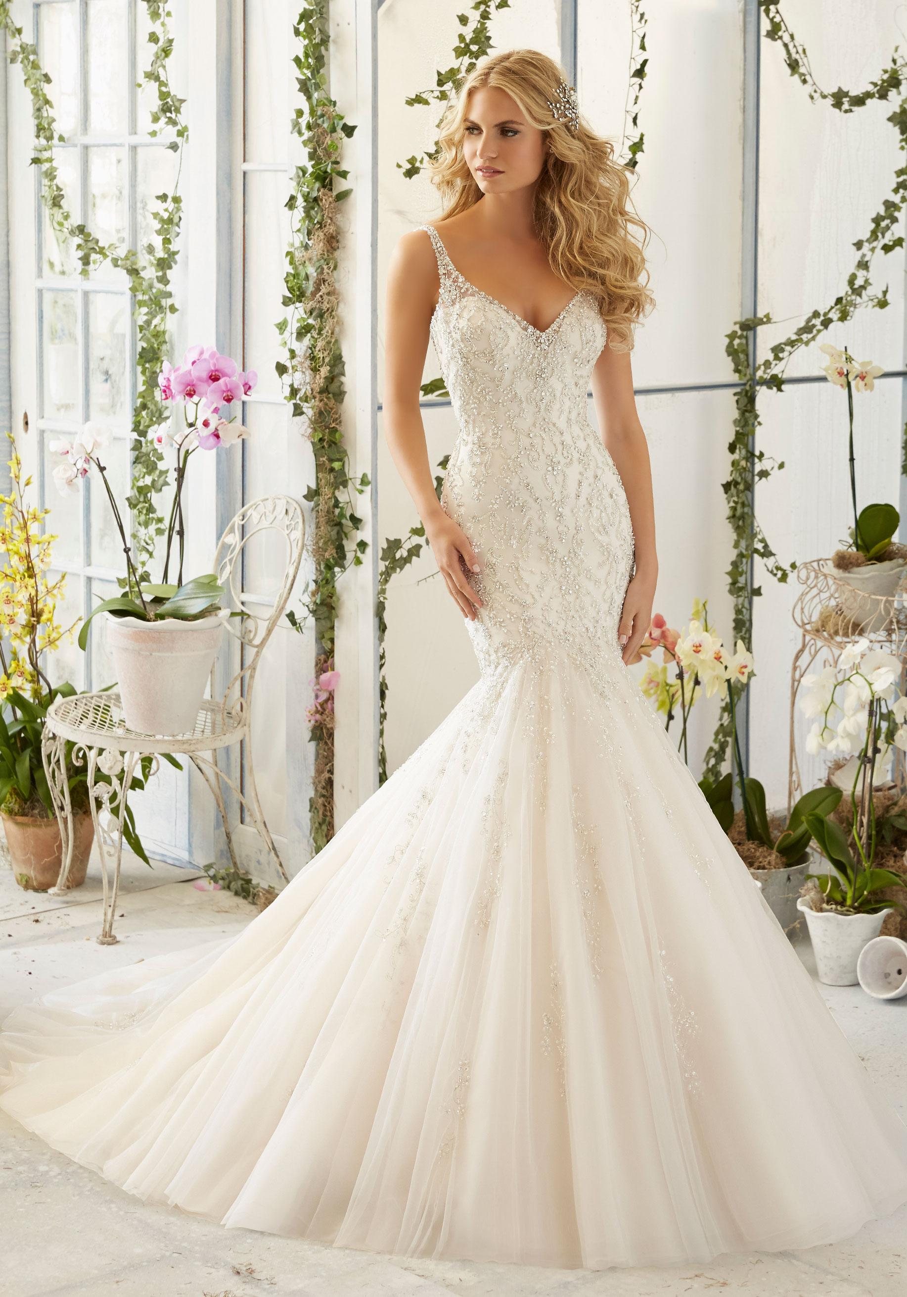 mori lee wedding dresses intricate crystal beaded embroidery on tulle mermaid morilee bridal wedding  dress hjemruh