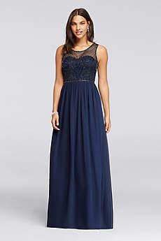 navy blue dress soft u0026 flowy davidu0027s bridal long bridesmaid dress bzwqfxf