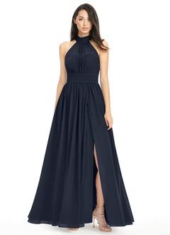 navy dresses azazie iman bridesmaid dress | azazie odyajcw