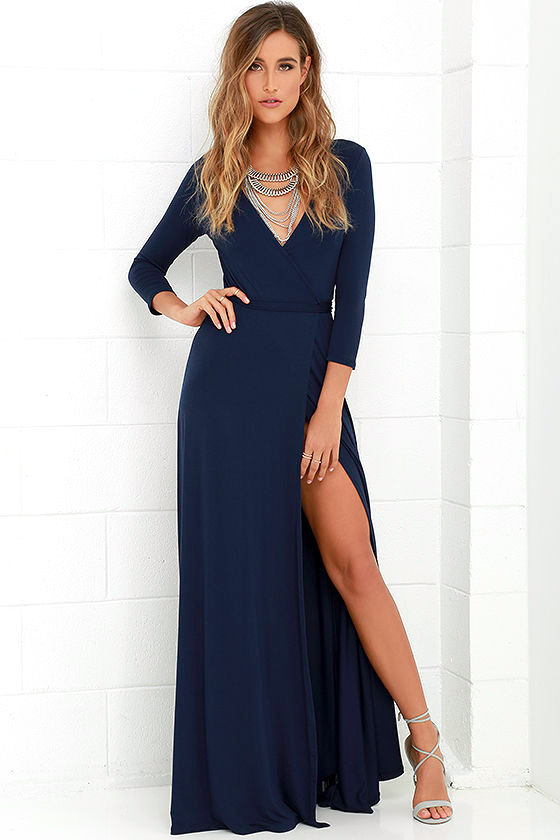 navy dresses garden district navy blue wrap maxi dress 1 ytpojnf