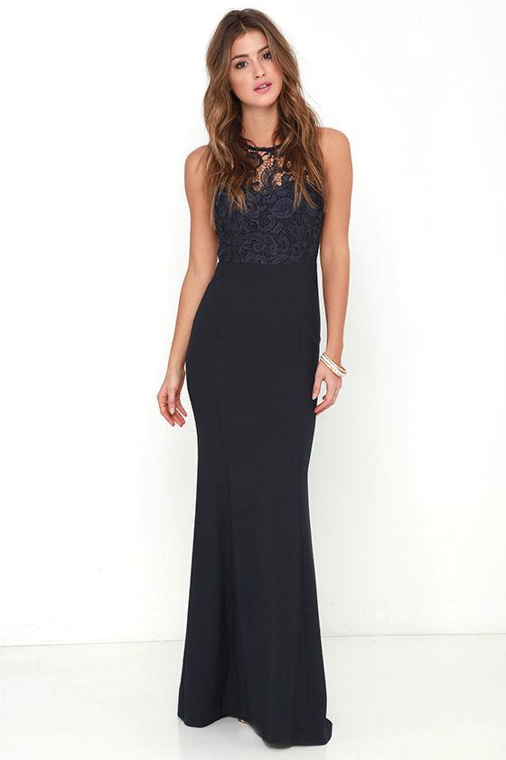 navy dresses oak and elm navy blue lace maxi dress 1 pzanxzp