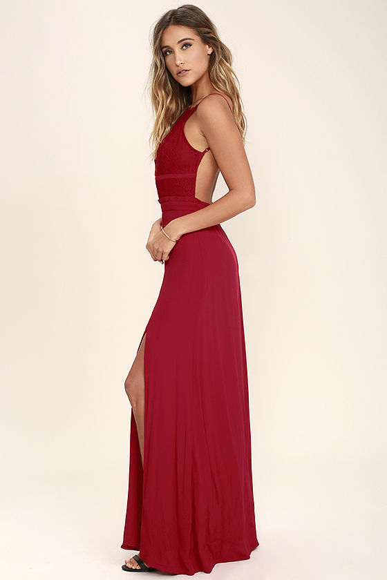 nbd stephania red lace backless maxi dress 1 tzorcpr