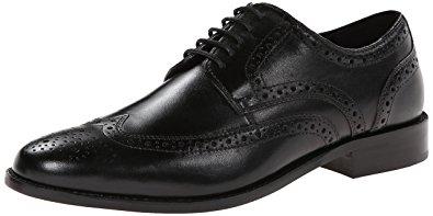 nunn bush shoes nunn bush menu0027s nelson wing tip oxford,black 8 w ... ibrzjtw