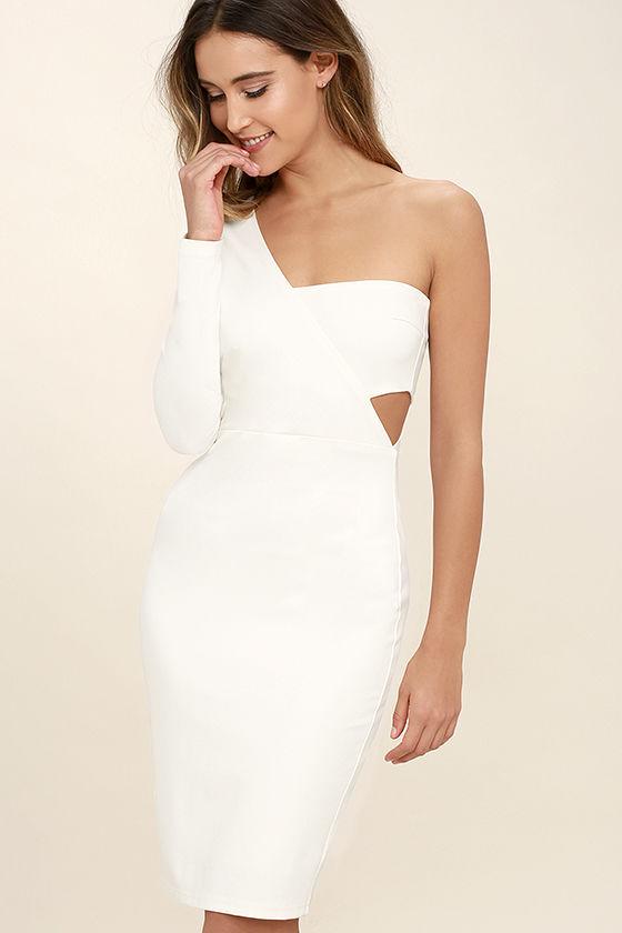one shoulder dresses one night white one shoulder bodycon dress 1 lfqdzjp