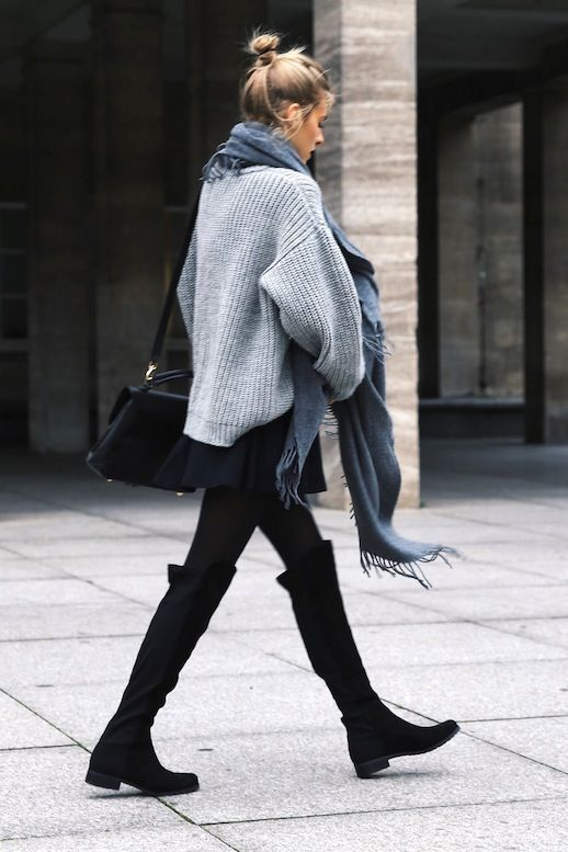 over knee boots a casual way to style over-the-knee boots (le fashion) tkbksaf