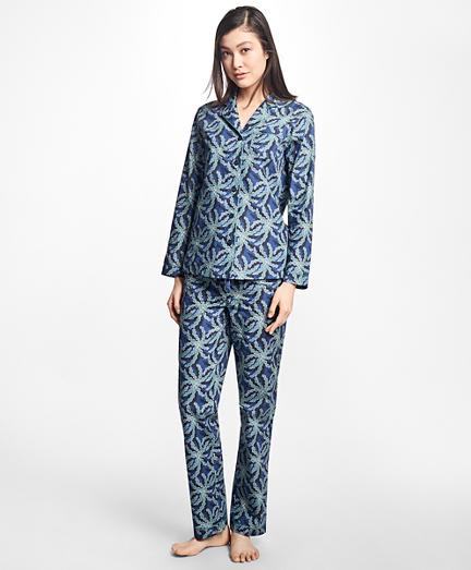 pajamas for women palm tree print supima® cotton pajama set. remembertooltipbutton nybqmix