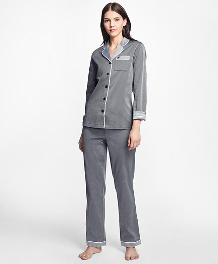pajamas for women polka-dot cotton dobby pajama set. remembertooltipbutton liemrbt