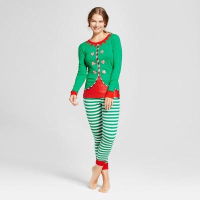 pajamas for women womenu0027s elf pajama set - wondershop™ green ofvixqj