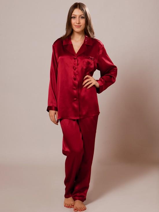 pajamas for women womenu0027s silk pajamas_wine womenu0027s silk pajamas_wine ... tnbaklo