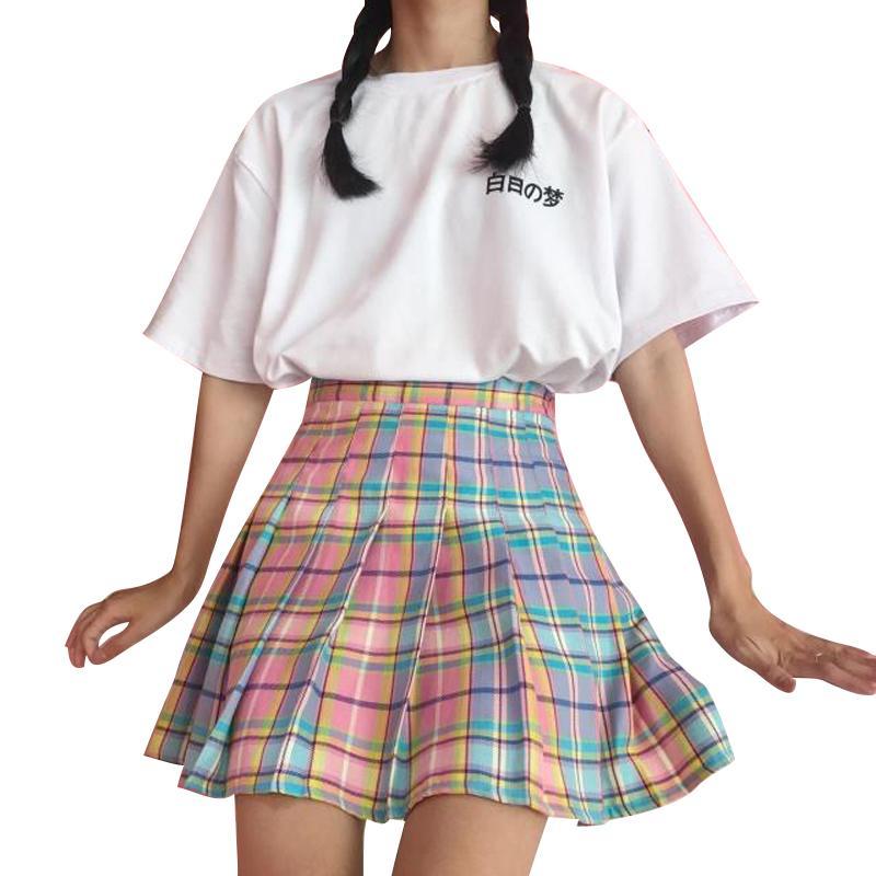pastel pleated skirt ymqgblk