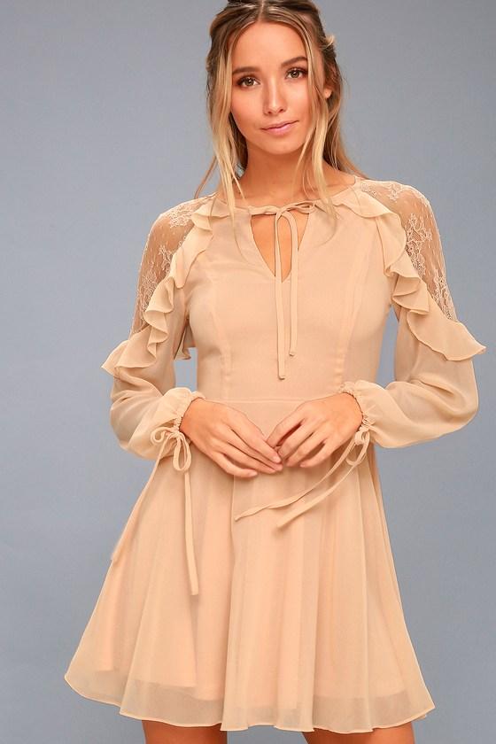 peach dresses city of love peach lace long sleeve skater dress 1 irtsdyc