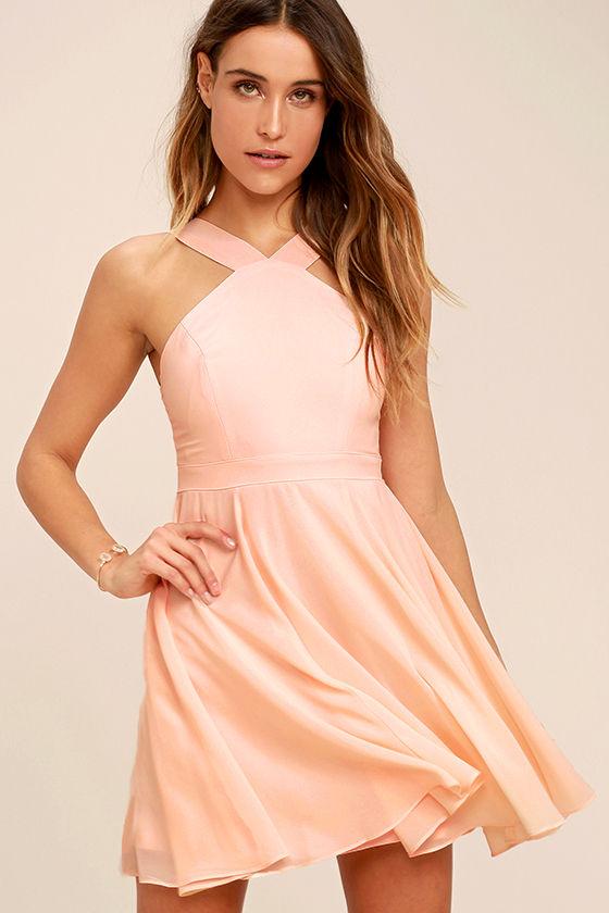 peach dresses forevermore peach skater dress 1 uocjtsn