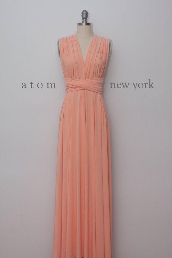 peach dresses peach floor length ball gown long maxi infinity dress convertible formal  multiway xqatpym