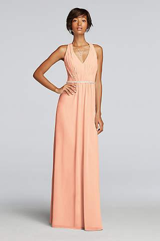 peach dresses soft u0026 flowy wonder by jenny packham long bridesmaid dress yenbxhe