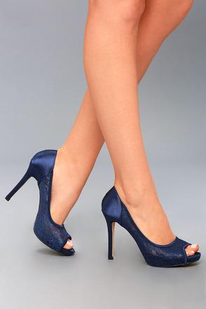 peep toe heels alannah navy lace peep-toe heels 4 mndlzro