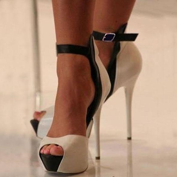 peep toe heels new arrival contrast color peep-toe heels prmjqda
