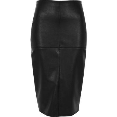pencil skirts black faux leather panel pencil skirt gfhxhvf