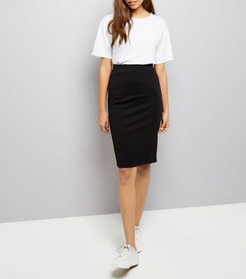 pencil skirts black textured pencil skirt | new look lxncwqy
