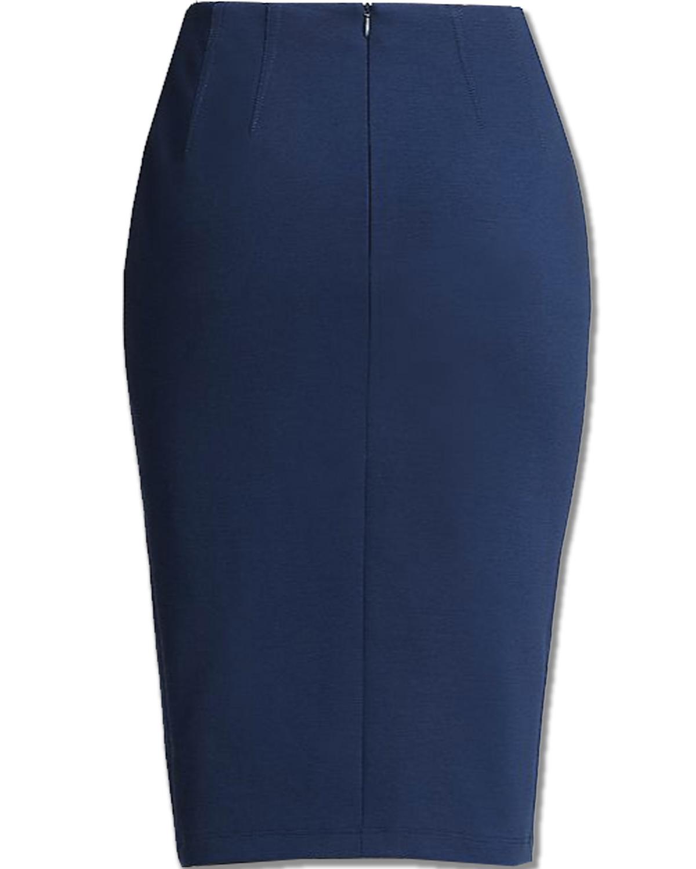 pencil skirts blue ponte knit pencil skirt bsdmtnk