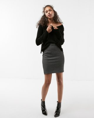 pencil skirts high waisted crosshatch seamed pencil skirt | express kmclnwp