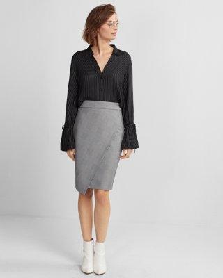 pencil skirts high waisted plaid wrap pencil skirt | express jumkjkc