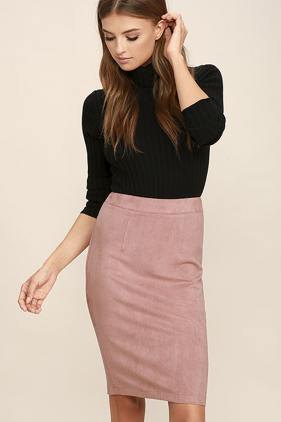 pencil skirts superpower blush suede pencil skirt 1 seumlwq