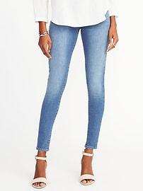 petite jeans mid-rise built-in sculpt rockstar jeggings for women opegipu
