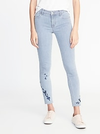 petite jeans mid-rise rockstar raw-edge ankle jeans for women lgnmrrm