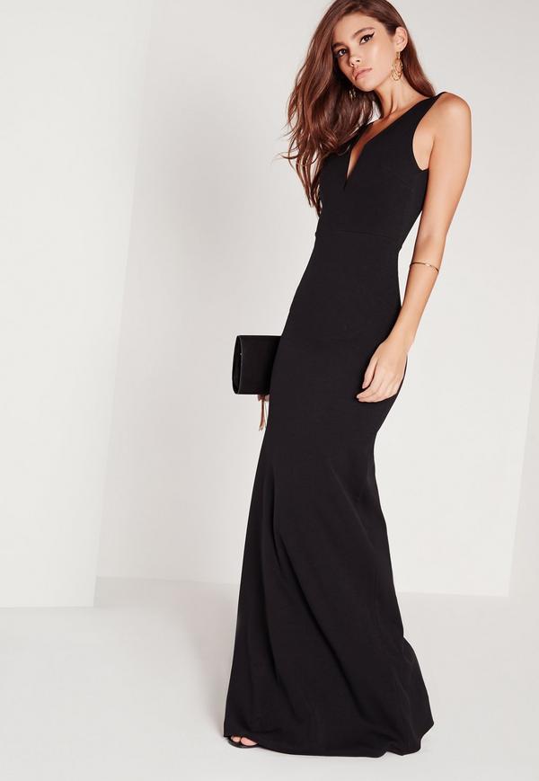 petite maxi dresses petite v plunge scuba maxi dress black. previous next hietrah