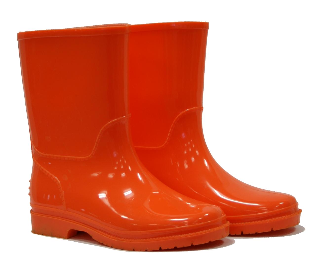 picture of kids wellington boots - orange yrniepf