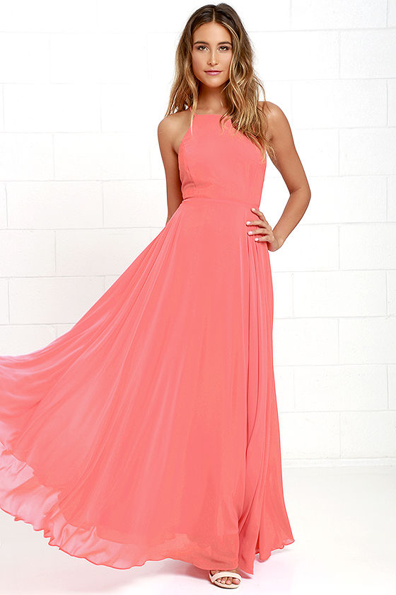 pink dress mythical kind of love coral pink maxi dress 1 enltgzz